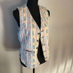 Vintage Levi's silvertab vest, stonewash 80's, S